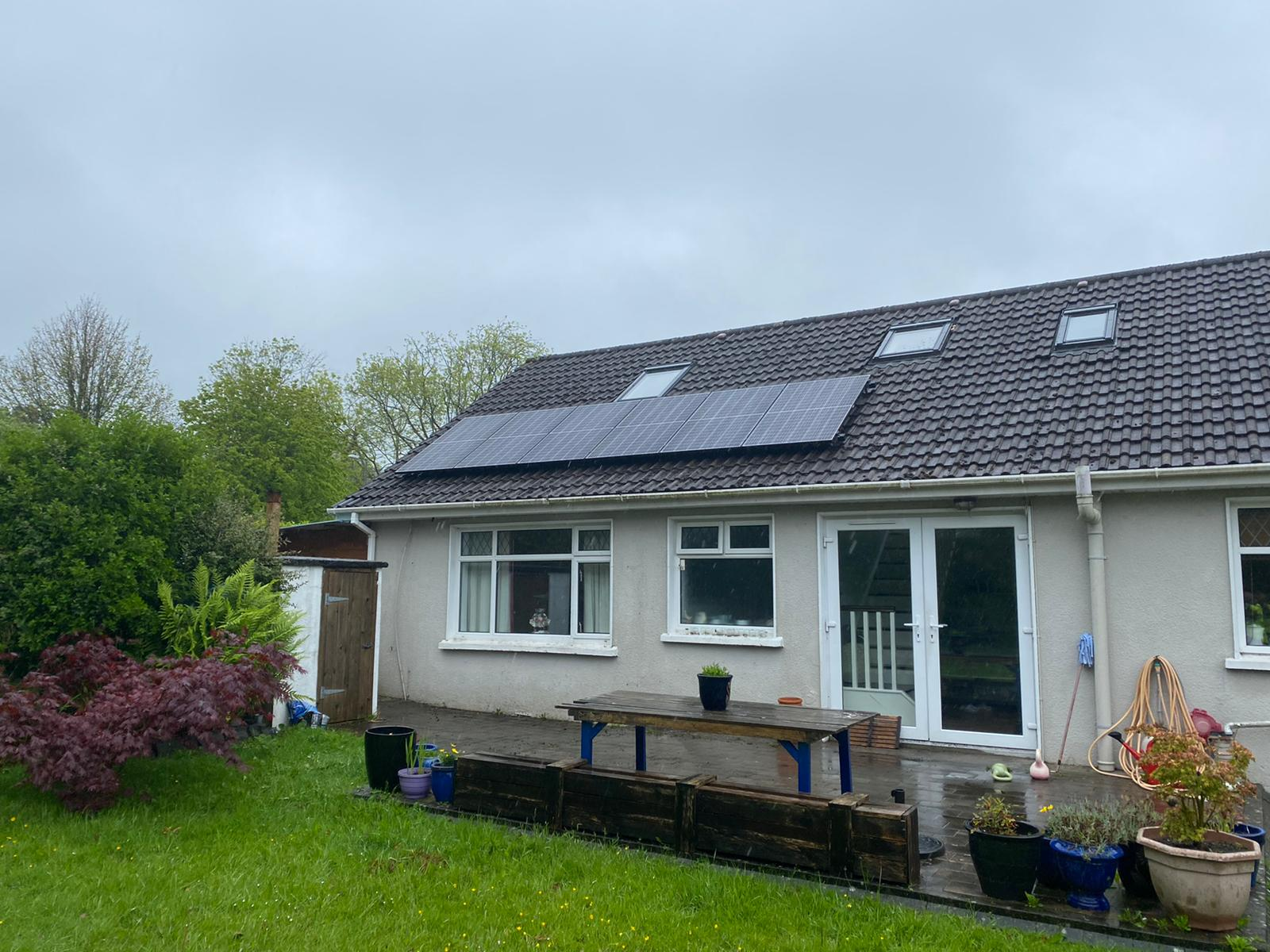 Bungalow with PV solar Panels